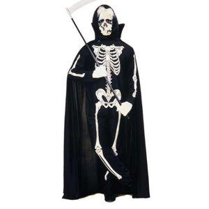 Adult SKELETON JUMPSUIT + Hood Costume: Size M